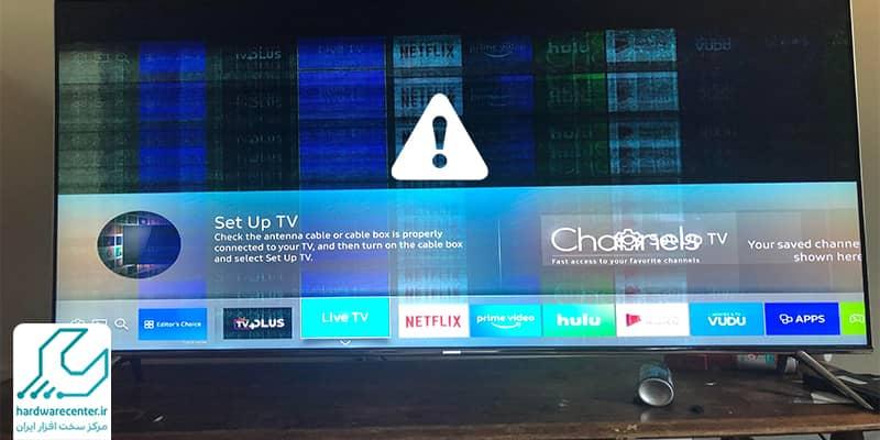 خطوط افقی و عمودی روی تلوزیون ال جی