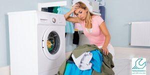 قفل شدن درب ماشین لباسشویی ال جی